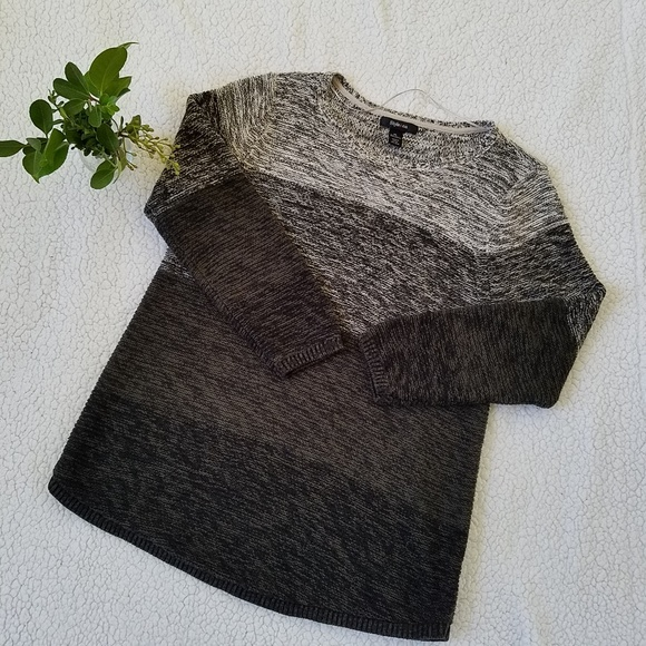 Womens Striped Marled Sweater Style /& Co